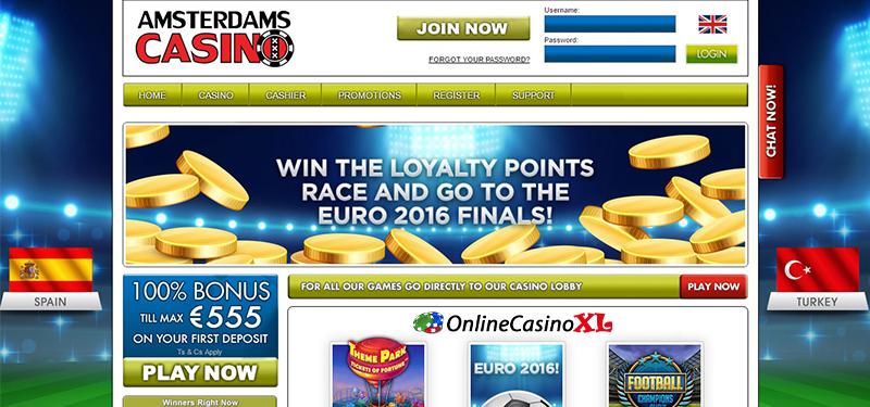 Gokkasten bij Amsterdams Casino