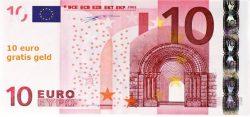10 euro gratis geld