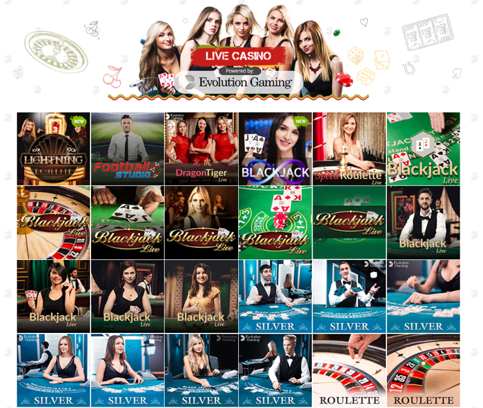 Live Casino van Evolution