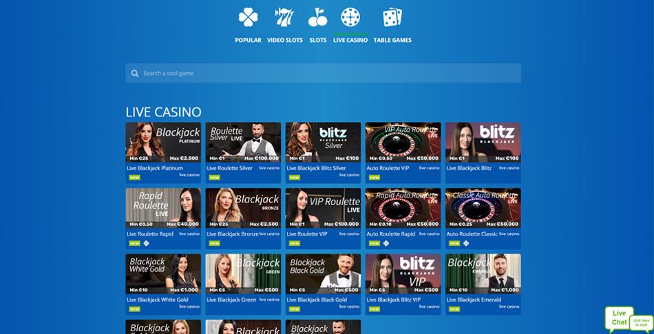 Eskimo Casino live casino pagina