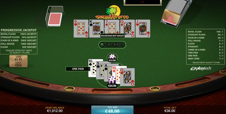 Online Caribbean Stud Poker