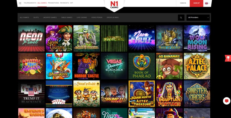 n1 casino spellen