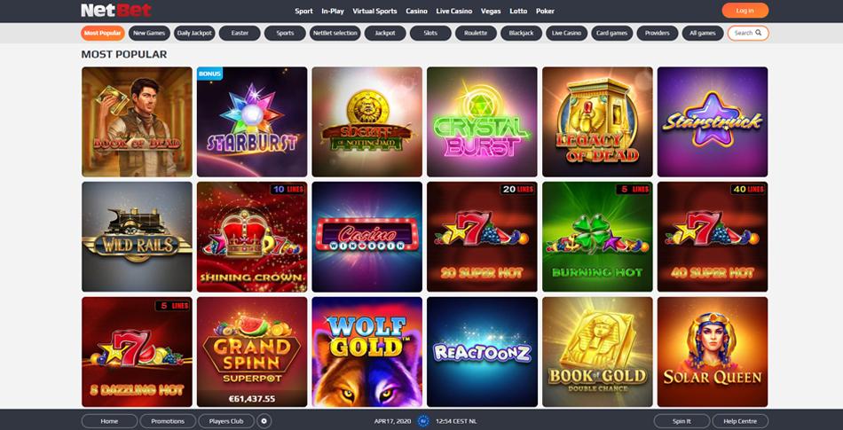 netbet casino spellen