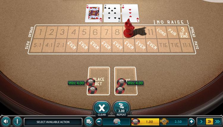 red dog poker screenshot