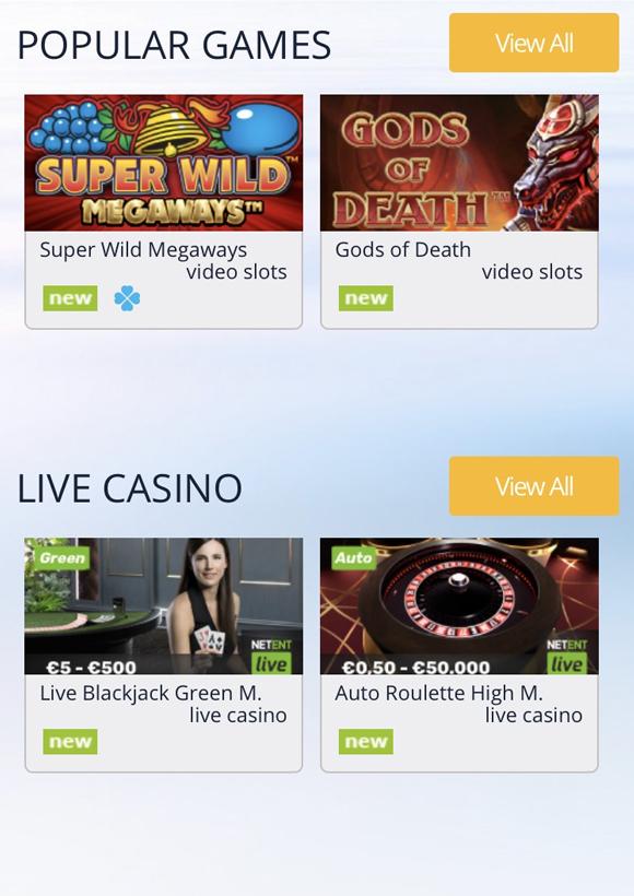 turbo casino spellen mobiel