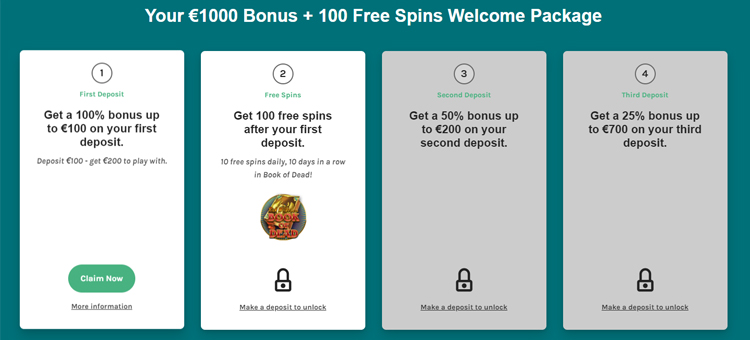 Lucky Days Casino welkomstpakket