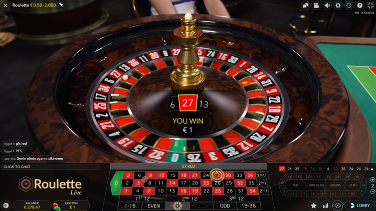live roulette uitbetaling